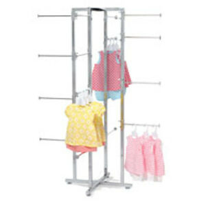 Folding Lingerie Tower Square Tubing In Chrome 41 D X 61 H Inches