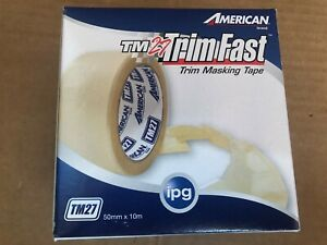 New Ipg American Brand Tm27 Trimfast Trim Masking Tape 50mm X 10m
