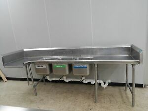 Advance tabco 3 bowl Sink With Dishwasher Entry
