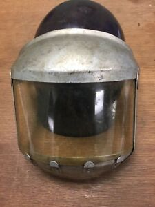 Rare Vintage Msa Skullgard Type B Miner Construction Hardhat W Face Shield