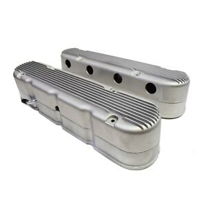 Gm Ls Chevy Sb Finned Cast Aluminum Valve Covers W Coil Mounts Cover Satin