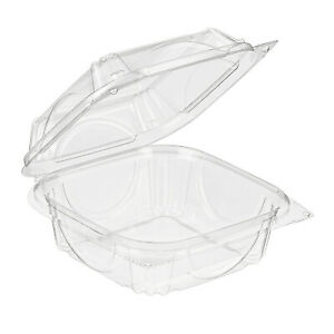 330 pack Take Out Clamshell Clear Salad Container 5 5 Square Cake Sandwich Box