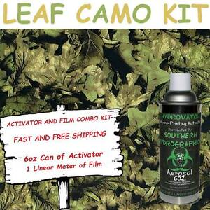 Hydrographic Film Water Transfer Hydro Dip 6oz Activator Leaf Camo Dip Kit
