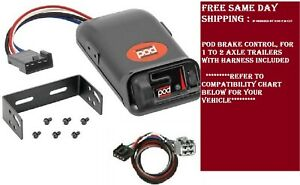 80500 Pro Series Brake Control With Wiring Harness 3045 For 2011 2020 Dodge Jeep