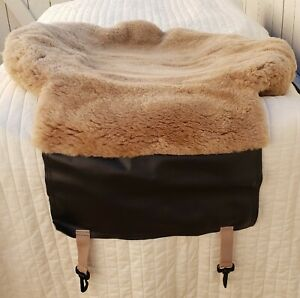 Sheepskin Seat Cushion Light Brown Color Only 1 Piece high Quality