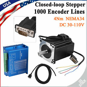 Hss86 Hybrid Servo Driver Nema34 Closed loop 4n m Stepper Motor Kit 0
