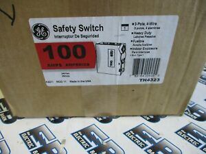 Ge Th4323 Model 11 100 Amp 240 Volt 3p4w Fusible Disconnect New b