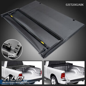 Fit For 2016 2021 Toyota Tacoma 5ft Short Bed Lock Tri Fold Tonneau Cover Black