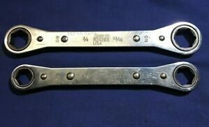 2 Snap On Sae Flip Ratchet Wrenches 6pt R2426s 3 4 13 16 R2022s 5 8 11 16