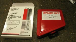 Snap On Exdl10 10 Piece Drill Extractor Set New In Original Packaging