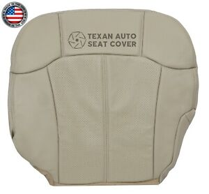 2002 Cadillac Escalade Ext Driver Bottom Synthetic Leather Seat Cover Shale Tan