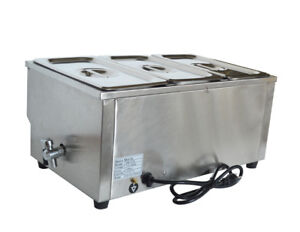 Techtongda 3 pot Electric Commercial Buffet Food Warmer Simple Operation Us