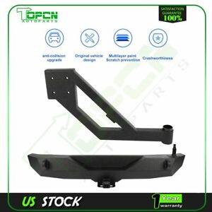 Fits For Jeep Wrangler 2007 2018 Jk Gap Rear Bumper W Tire Carrier