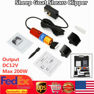 Electric Sheep Goat Shears Clipper Animal Shearing Grooming Clipper Tool 200w Us