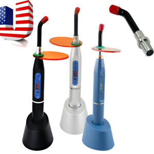 Usa New Dental Led Curing Light Lamp Wireless Cordless 2000mw tip Optional Fda
