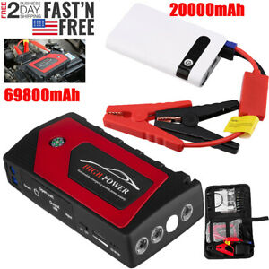 69800 20000mah Car Jump Starter 12v Portable Power Bank Battery Booster Clamp Us