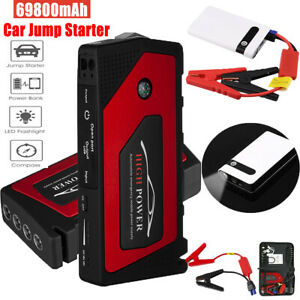 12v 69800mah Car Jump Starter Portable Usb Power Bank Battery Booster Box Clamp
