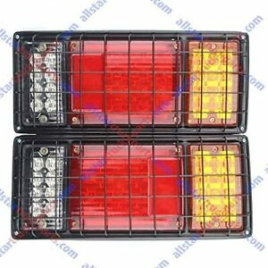 2pcs Led Truck Trailer Tail Lights Tail Turn Signal Brake Light Running Reverse