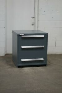 Used Stanley Vidmar 3 Drawer Cabinet 33 High Industrial Tool Storage 2189