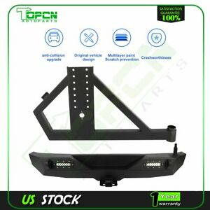 Rear Bumper Tire Carrier For 07 18 Jeep Wrangler Jk Assembly Textured Black