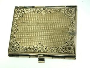 Vintage Sterling Silver Triple 3 Miniature Folding Travel Photo Frame Denmark