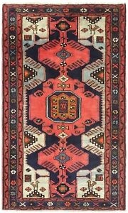 Hand Knotted Tarom Tribal Navy Coral Wool Nomadic Oriental Rug 2 7 X 4