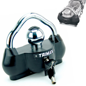 Trailer Tongue Lock Rv Travel Boat Coupler Security Anti Theft Cop Tow Hitch Set