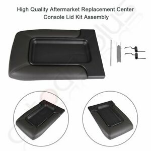 Center Console Cover Lid For Chevy Silverado Gmc Yukon 99 07 Dark Gray Armrest