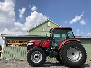 2017 Mahindra M105xl p 4x4 Tractor Only 91 Hours 105 Hp Enclosed Cab Heat Ac