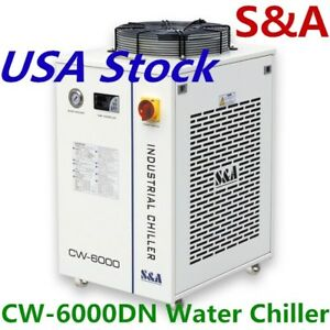 Us Stock Cw 6000dn Industrial Water Chiller For 100w Solid state Laser 110v