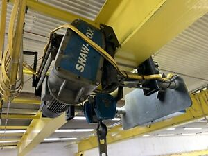 Shaw box 10 Ton Hoist 35 Foot I beam No End Trucks Included Overhead Crane