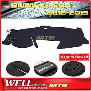 Black Dash Mat For Bmw 2012 2015 X1 E84 Wellvisors Dashboard Cover