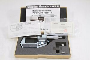Mitutoyo Digimatic Micrometer 0 25mm Model 342 541 001 Res With Case