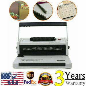 46 Hole Manual Table Calendar Spiral Coil Punching Binding Machine With Inserter