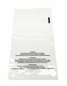 500 12x15 Suffocation Warning Clear Plastic Premium Self Seal Poly Bags 1 5 Mil