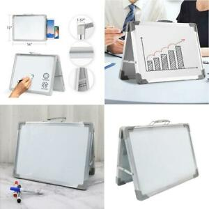 30x40cm Desk Standing White Board Dry Erase Board Portable With Handle