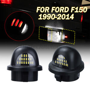 For Ford F150 1990 2014 Red Neon Tube Led License Plate Tag Light Lamp Assembly