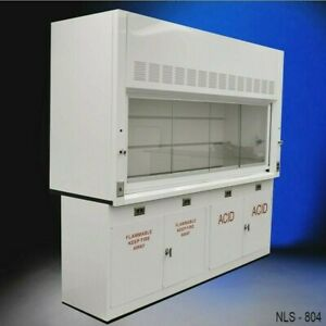 8 Chemical Resistant Fume Hood W Acid Flammable Storage In Stock E2 058