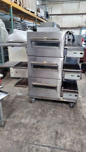 Lincoln Used Triple Stack Elec Conveyor Pizza Oven Includes Free Shipping