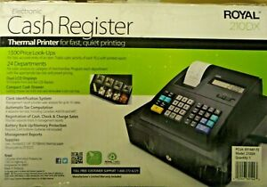 Royal 210dx Electronic Cash Register Thermal Printer used In Box