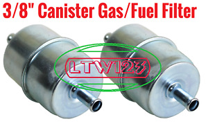 3pcs Gas Filter Canister Style Inline Fuel Filter 3 8 Hose Carbureted