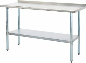 Rockpoint Carmona Tall Nsf Stainless steel Commercial Kitchen Work Table 60x24in