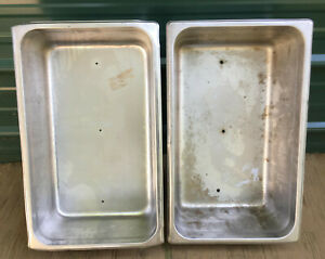 Lot 2 Stainless Steel Full Size 6 Deep Steam Table Pan Buffet