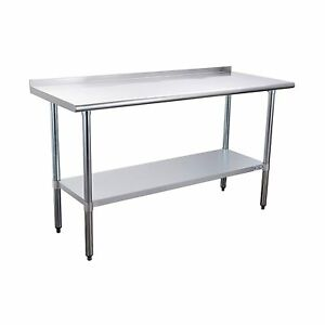 Stainless Steel Table For Prep Work 24 X 72 In Nsf Commercial Heavy Duty Table