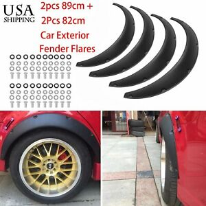 4pcs 820 890mm Universal Exterior Fender Flares Flexible Car Body Kit With Bolts