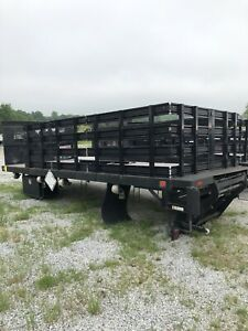 Knapheide 18 Ft Stake Bed With 3000 Lb Lift See Details Clean Nc Bed