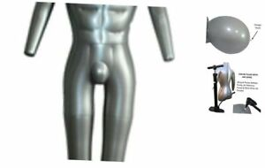 Inflatable Male Full Body Mannequin Dress Form Dummy With Arms And Legs Model Di