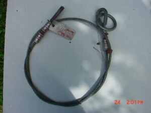 Lot Of 4 Steel Cable Safety Lanyards 6 Feet