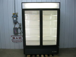 True Gdm 49f Glass Two 2 Door Merchandiser Reach In Freezer