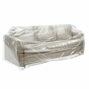 100 General Furniture Covers On Roll 28x17x164 Clear Plastic Bags Home Furniture